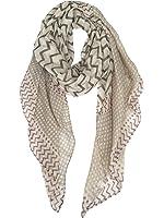 GERINLY Soft Stylish Shawl Wrap: Wave Stripe Print Lightweight Scarf