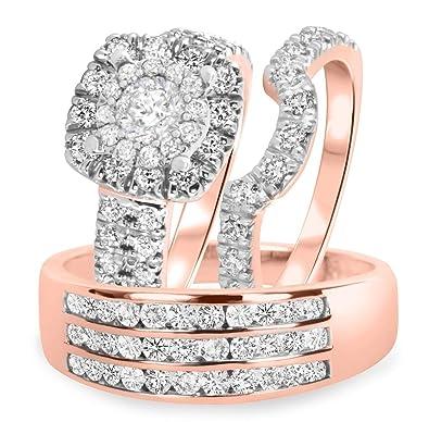 2 1/2 CT. T.W. Anillo de compromiso para mujer con diamantes y ...