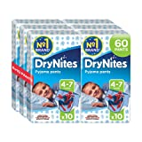 Huggies DryNites Pyjama Pants for Boys, Age 4-7 - 60 Pants Total