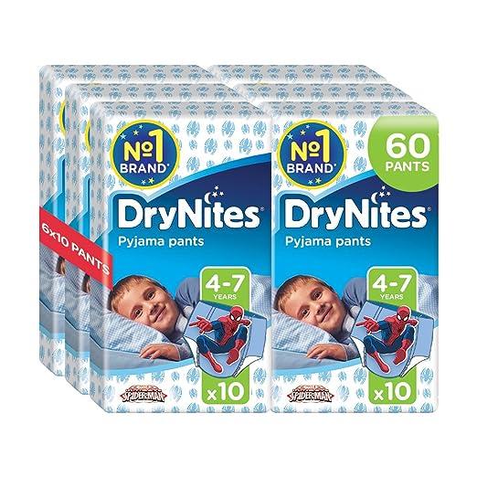 12 opinioni per Drynites Mutandine Assorbenti per la Notte da Bambino, 17-30 Kg, 6 Confezioni da