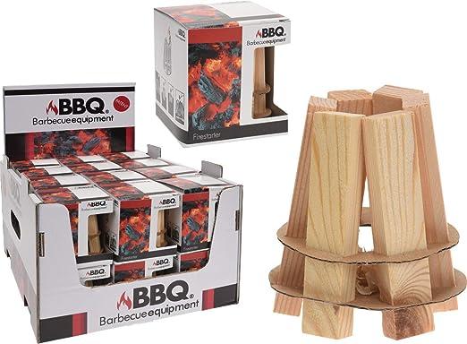 BigBuy BBQ V0200992 Iniciador de Fuego de Madera para Barbacoas BBQ Classics, Verde: Amazon.es: Jardín
