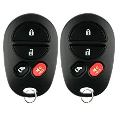 KeylessOption Keyless Entry Remote Fob Car Key Replacement for GQ43VT20T (Pack of 2): Automotive