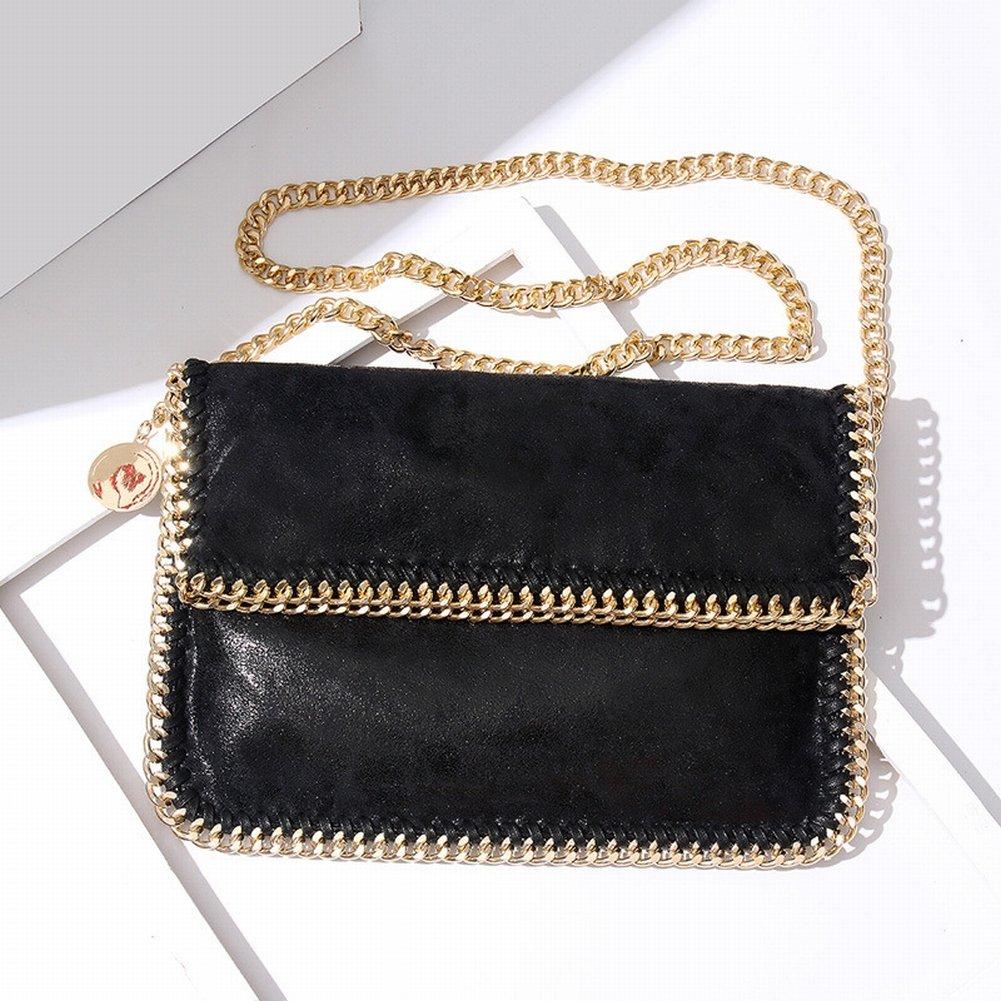 Weibliche Handtasche Schulter Diagonal Klappkette Tasche Handtasche , schwarz