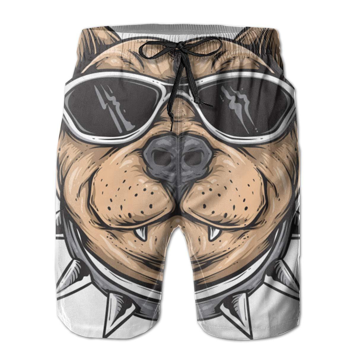 Funky Dog Swim Shorts Mens Swim Trunks Beach Shorts Board Shorts