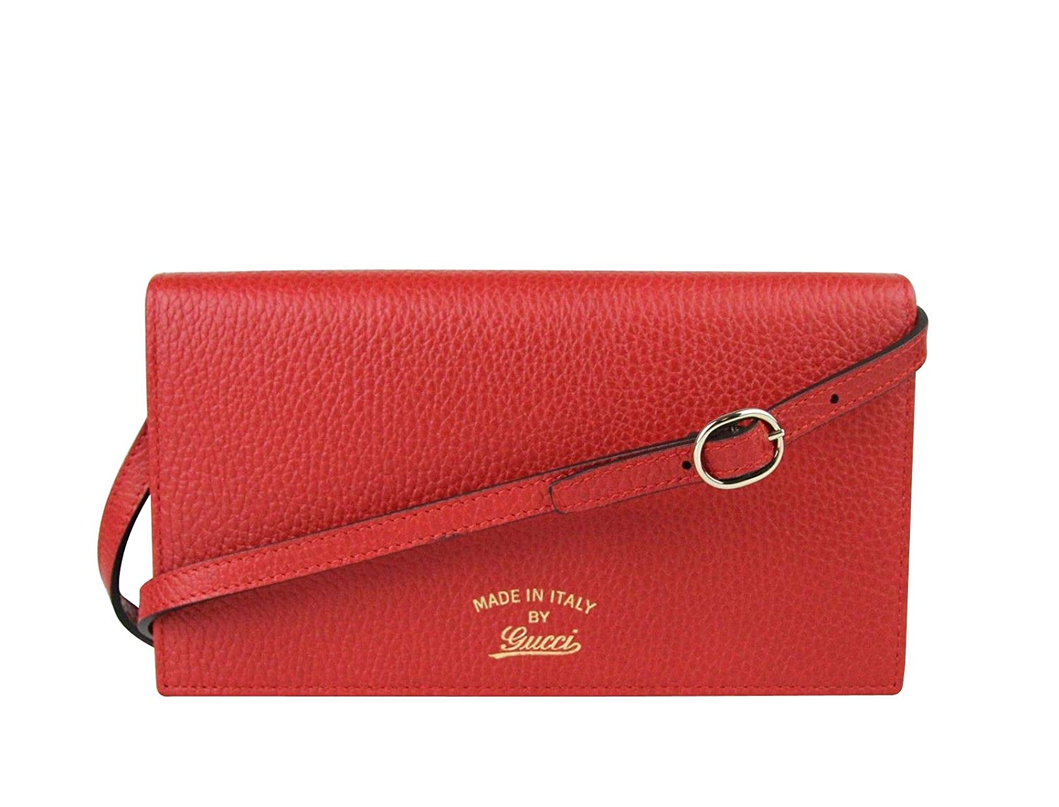 91bdad5706f Amazon.com: Gucci Women's Swing Red Leather Crossbody Clutch Wallet 368231  6523: Shoes