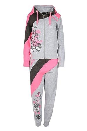 Para mujer forro polar 2 piezas Dope Top con capucha deportivo para mujer de deporte Casual ...