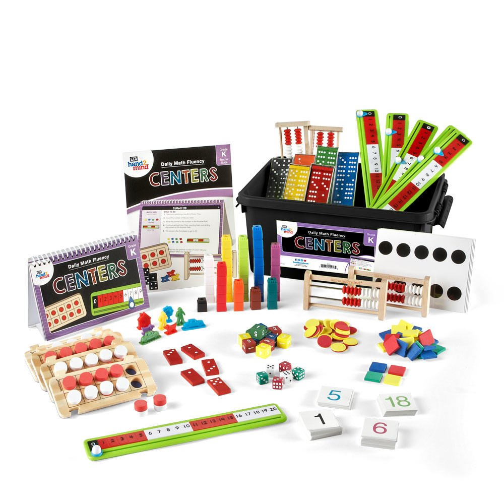 Daily Math Fluency Center Kit for Kids (Grade K+) - Counting, Adding, and Number Path | Develop Number Sense | Reinforce and Support New Math Skills by hand2mind