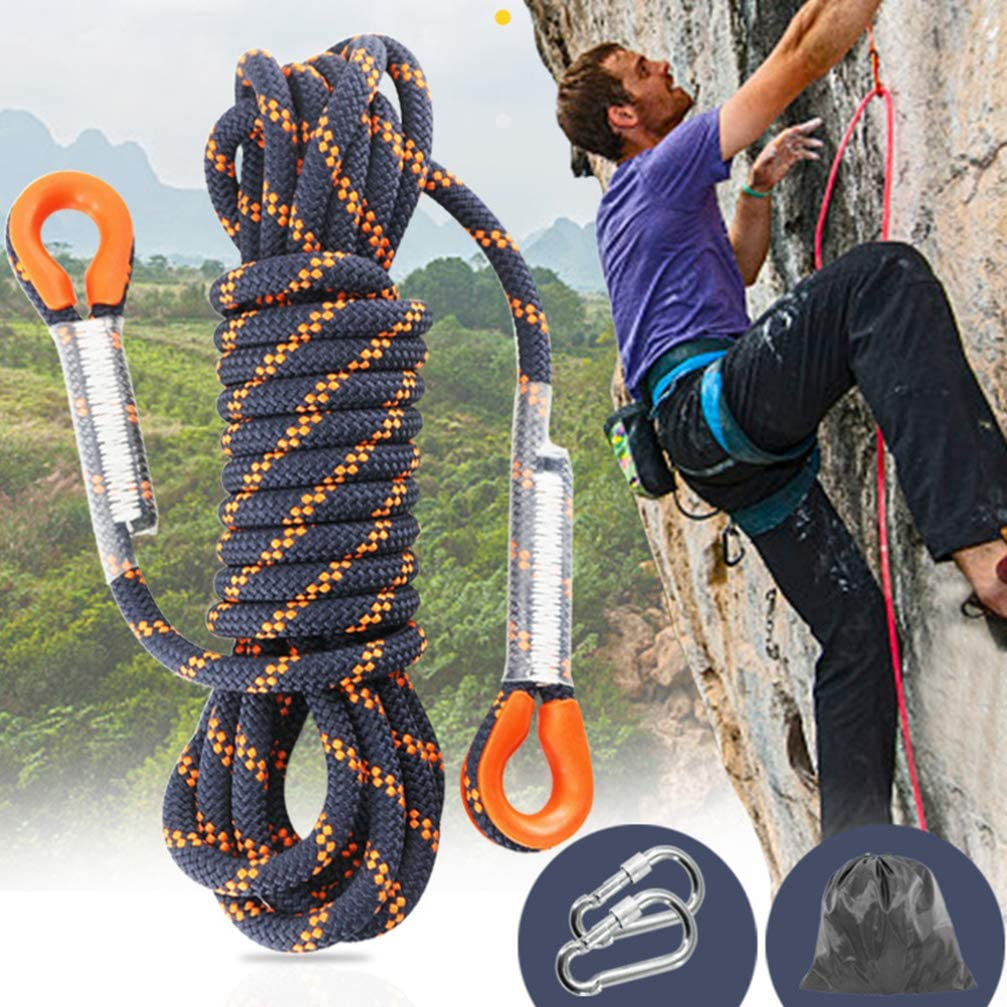 BESPORTBLE Cuerda Auxiliar de Escalada de Nailon de 8 mm de Grosor Cuerda de Rappel de Seguridad de Rescate de montañismo para Deportes al Aire Libre ...