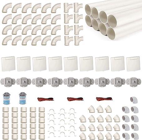 Kit de instalación de aspirador central para 9 tubos de aspiración con tubos, accesorios y similares. Elige tu propia ventosa – Kit de montaje para la instalación de una aspiradora VEX-S.: Amazon.es: