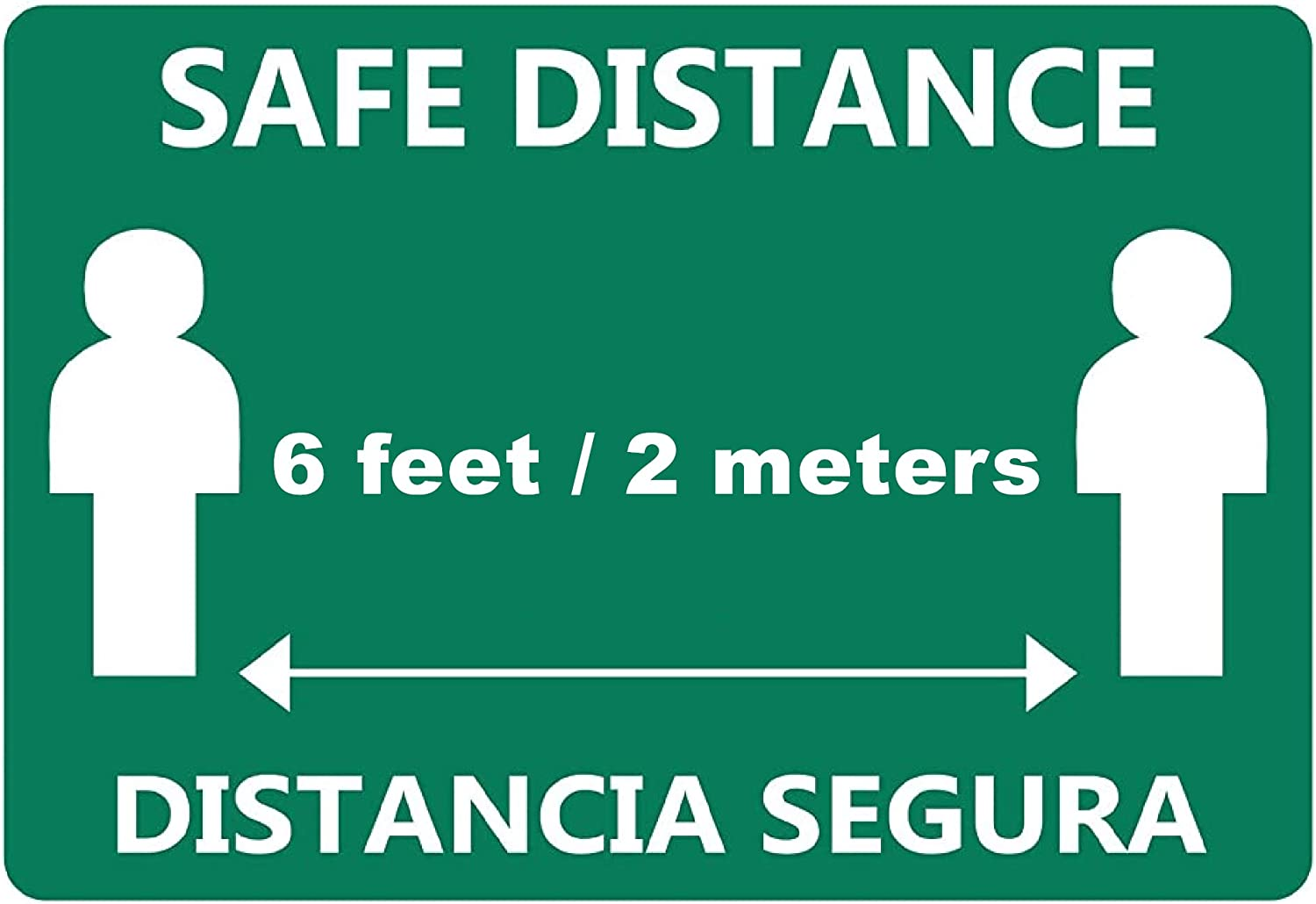 Keep Social Distance Sign 177.8/×254mm Minimum Safe Physical Distance Label 7x10/″ Case of 50 Self-Adhesive Vinyl PVC Sticker for Distant Socializing Practice Social Distancing Decal 1RHB03