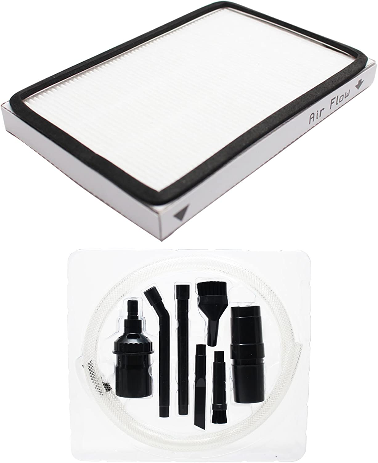 Replacement EF-1 Filter with 1 Micro Vacuum Attachment Kit for Kenmore - Compatible with Kenmore EF-1, Kenmore 86889, Kenmore 11635922500, Kenmore 11635923500, Kenmore 20-86889, Kenmore EF1, Kenmore KC38KCEN1000, Kenmore 11628014700, Kenmore 11628015700, Kenmore 11628614800, Kenmore 11628614801, Kenmore 11628614803, Kenmore 11628615800, Kenmore 11628615801