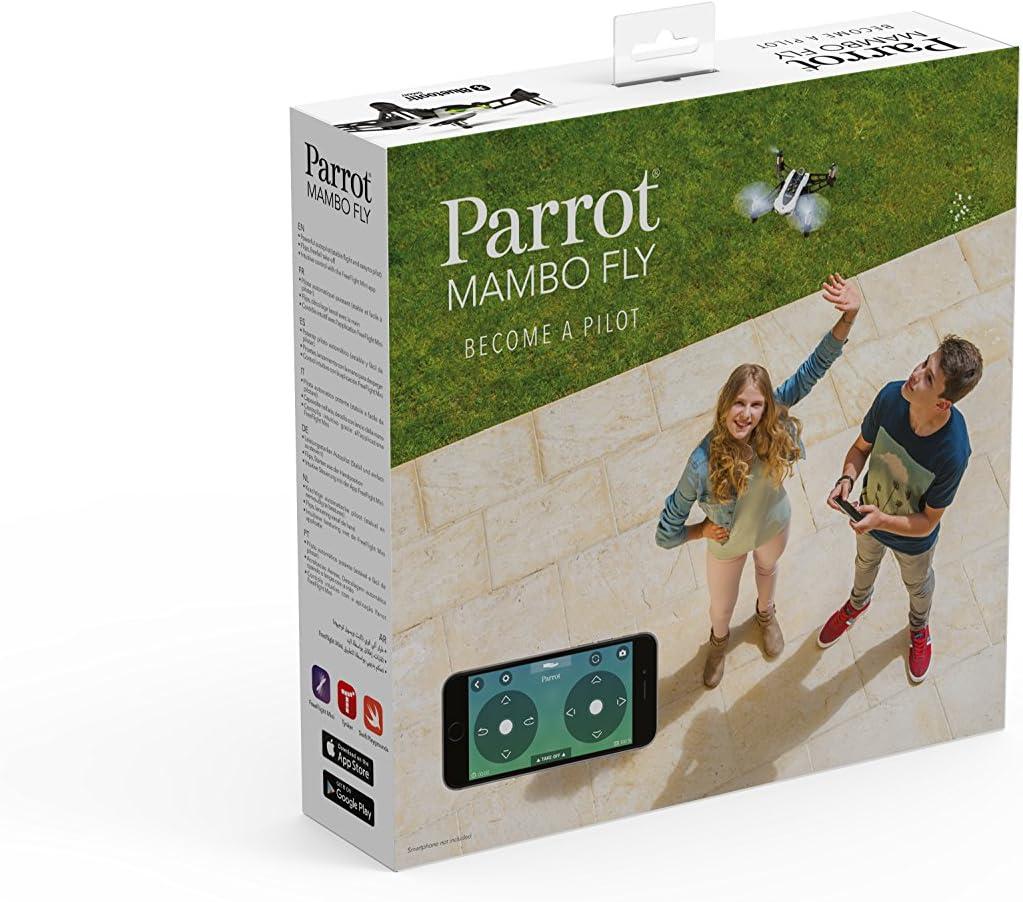 Parrot Mambo Fly - Dron cuadricóptero (30 Km/h, 8 minutos de vuelo, programable): Amazon.es: Electrónica