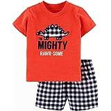 Funnymore Toddler Boy Cotton Summer Short Sleeve T-Shirt and Short Set
