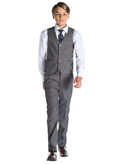 fd14e0c0a64bb garçons slim fit costume gilet
