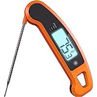 (Orange) - Lavatools Javelin PRO Duo Ambidextrous Backlit Instant Read Digital Meat Thermometer (Orange)
