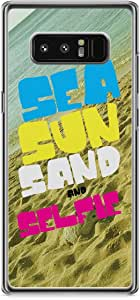 Samsung Galaxy Note 8 Transparent Edge Sea Sun and Selfiee - Clear Slim Scratch Resistant Tough Phone Cover