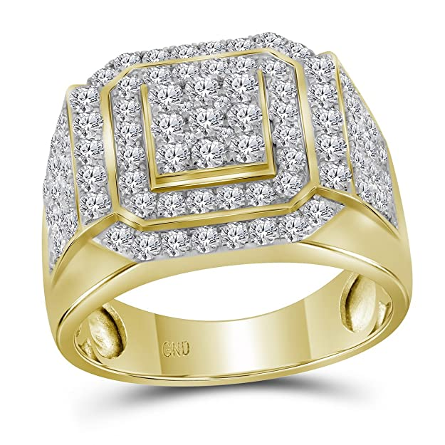 Anillo de oro amarillo de 10kt para hombre con marco cuadrado de diamante redondo de 2 – 1/2 kthttps://amzn.to/2EvlfVl
