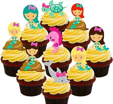 Sirenas Party Pack, comestible decoración para tarta, – para ...