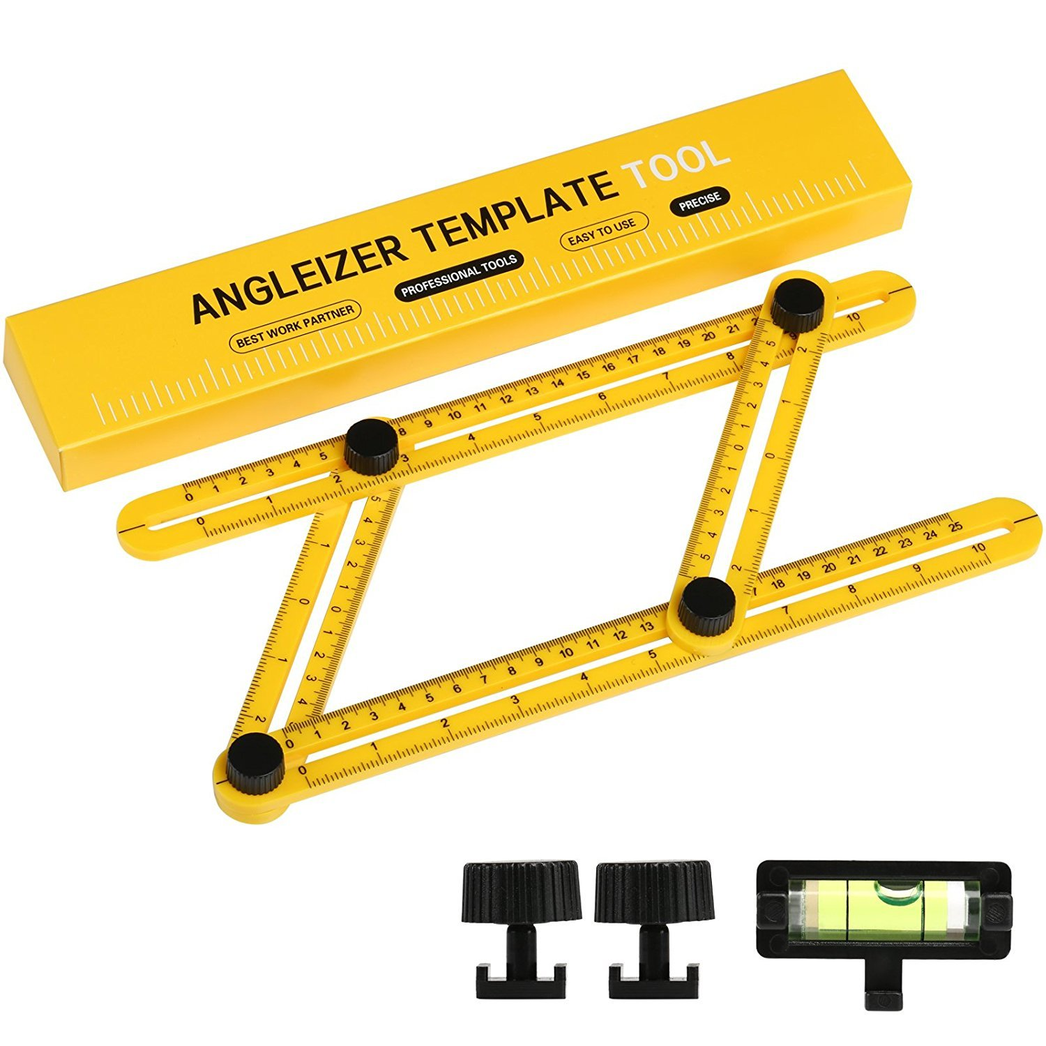 GWHOLE Angleizer Template Tool Multi-Angle Measuring Ruler General Angleizer Template Ruler for Handymen, Builders, Craftsmen
