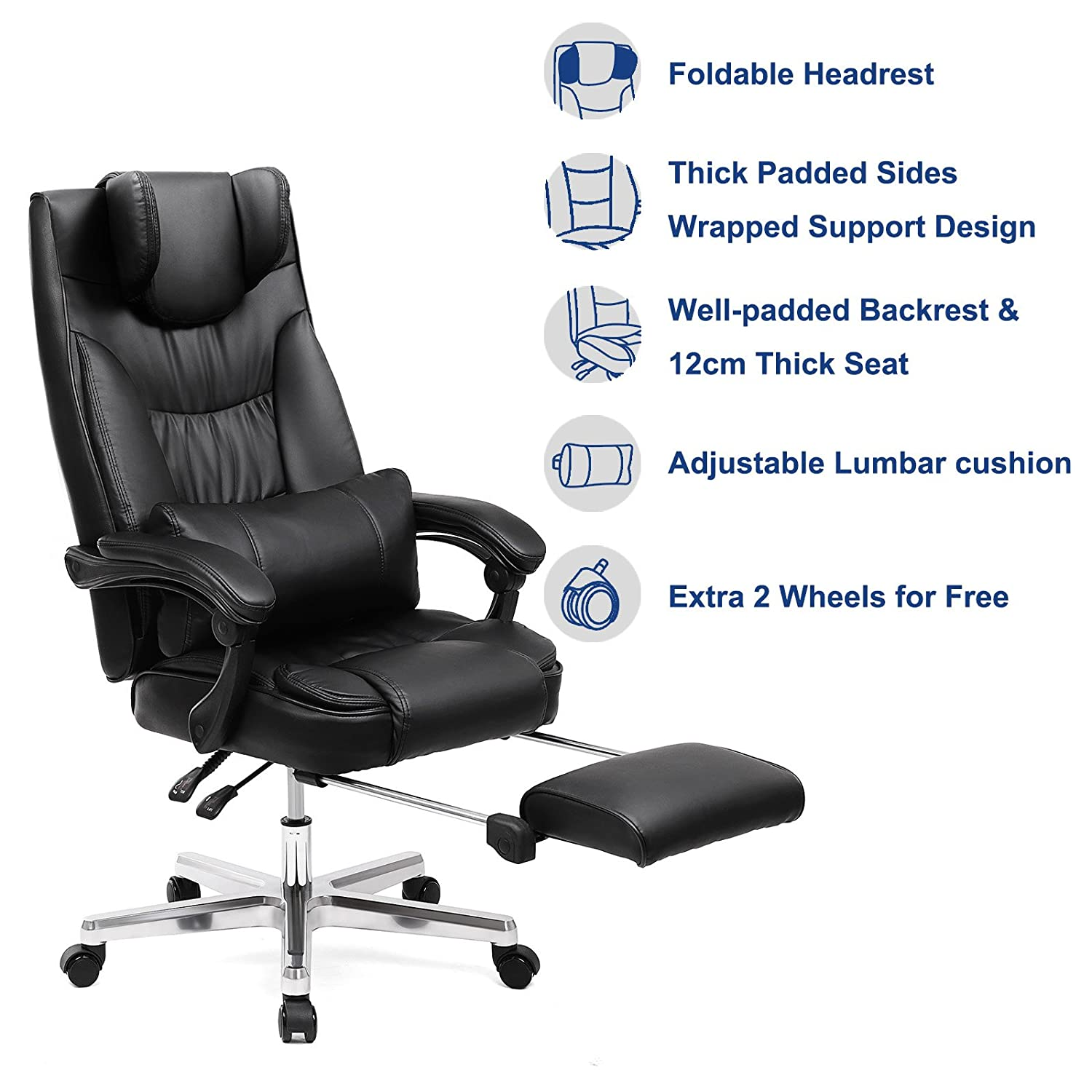Amazon SONGMICS Extra Big & Tall fice Chair Ergonomic
