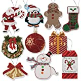 100 Pack of Large Christmas Gift Tags in 10 Assorted Designs by Gift Boutique