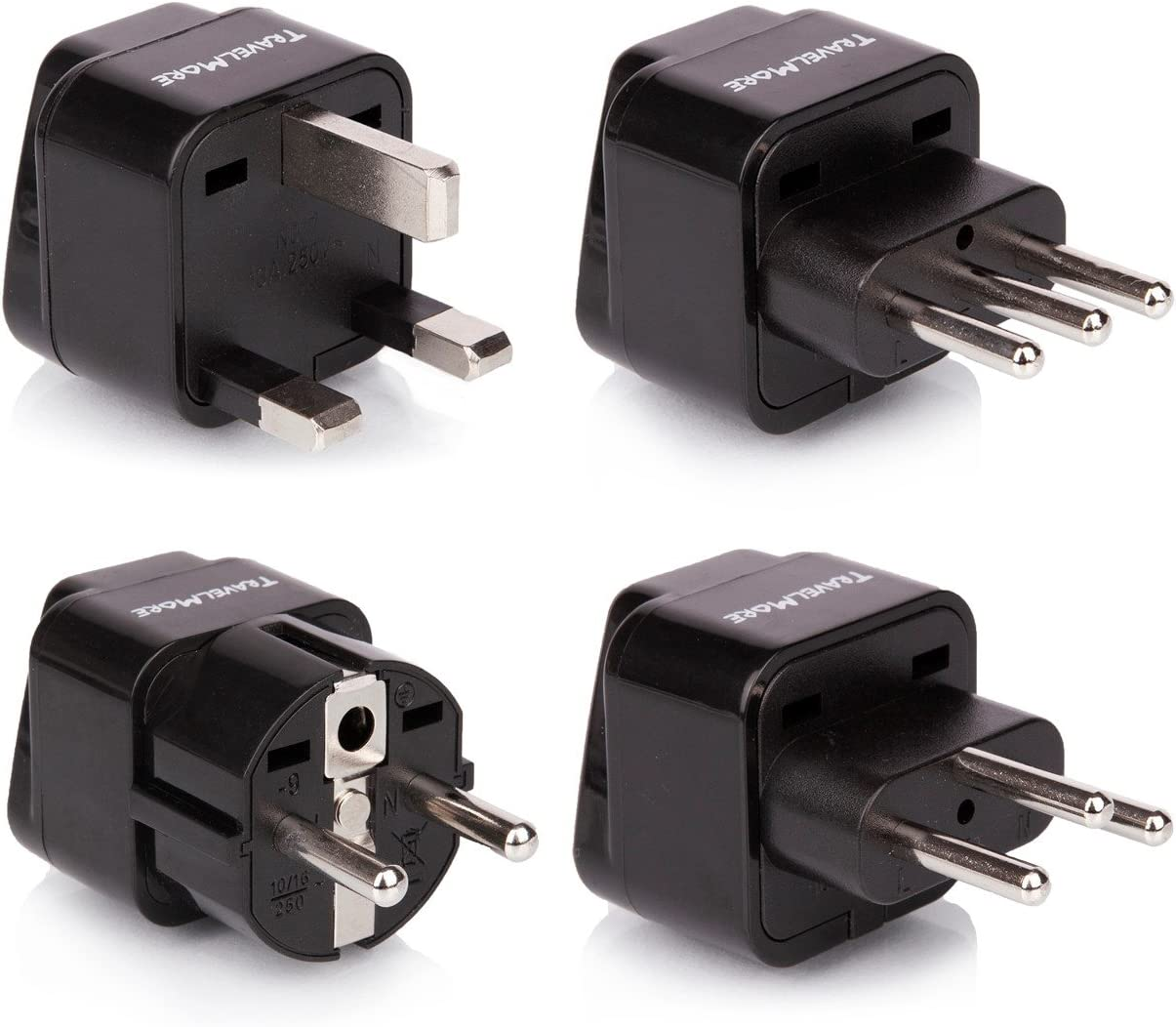 Easy Convert Universal UK//US//EU//AU to Italy Travel Power Adapter Plug for travel
