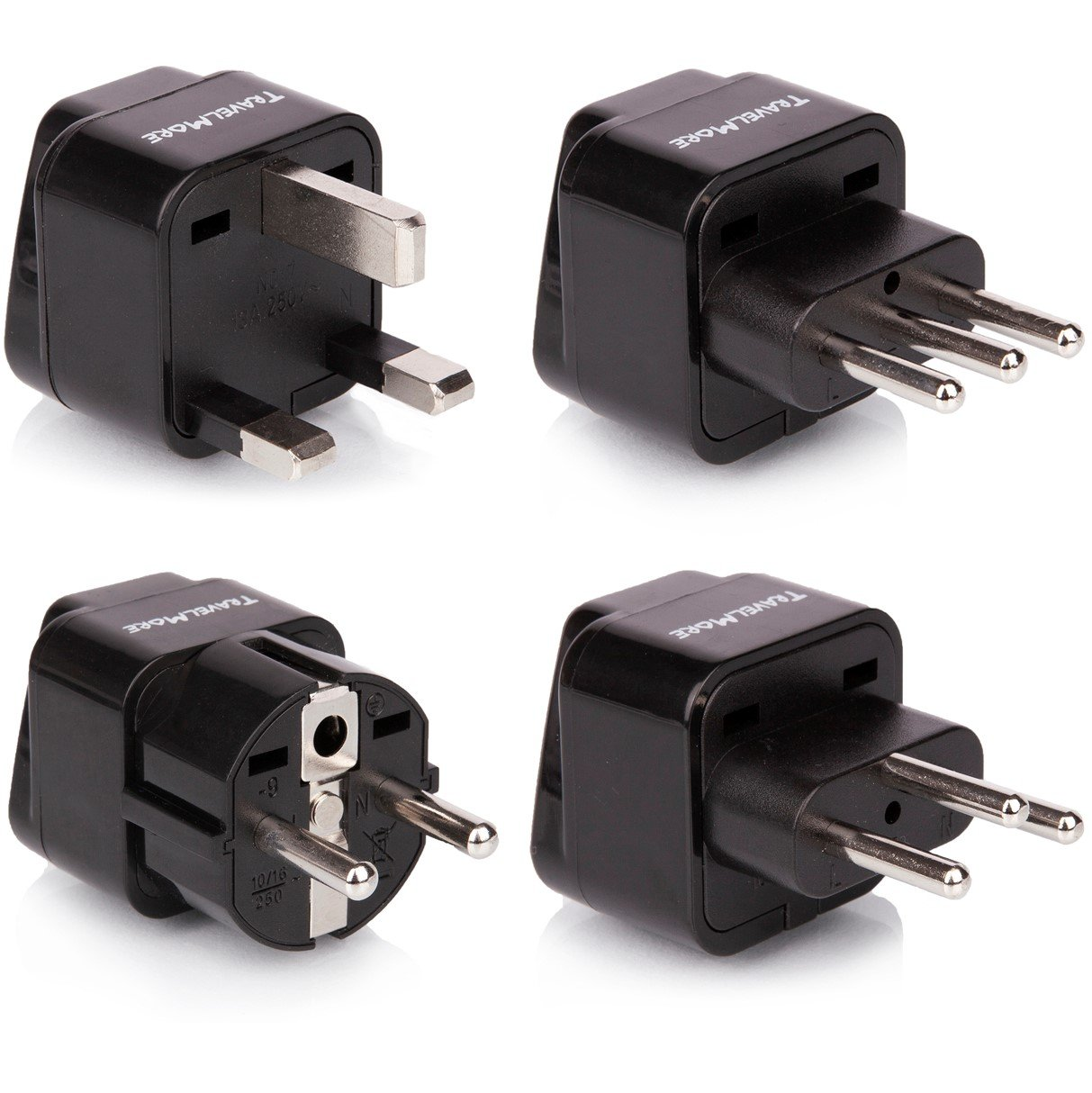 Peachy Amazon Com European Travel Adapter Plug Set Pack Of 4 Universal Wiring Cloud Hisonuggs Outletorg