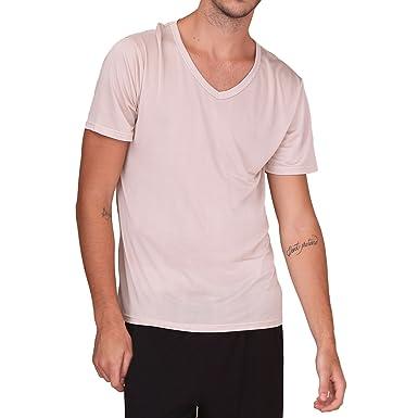 2f315e45b0b45 Paradise Silk Pure Silk Knit Mens Short Sleeves V-Neck Casual T-Shirt Tee