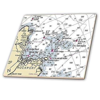 Amazon Com 3drose 3d Rose Print Of Rockport Maine Nautical Chart