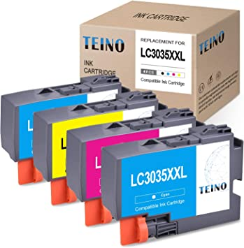 4PK Compatible Brother LC3033 Ultra High Yield Ink MFC-J995DW MFC-J995DW XL
