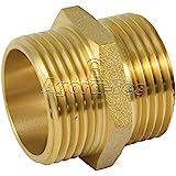 Agora-Tec® Messing Doppelnippel 1 Zoll AG (33,3mm) auf 1 Zoll AG (33,3mm) Industriequaltät