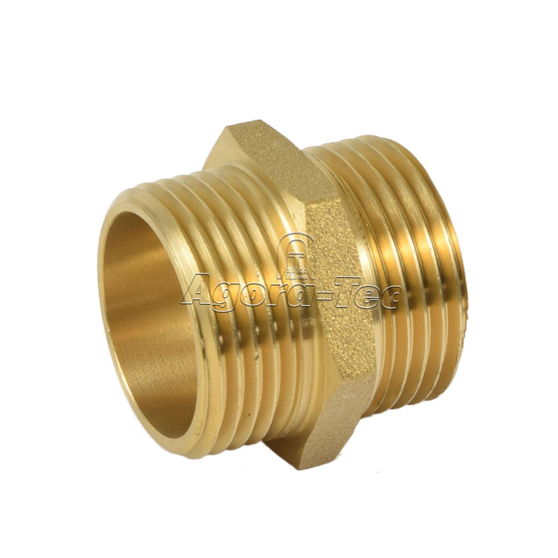 Agora-Tec® latón bicónica 1Pulgadas AG (33, 3mm) a 1Pulgadas AG (33, 3mm) de la Industria qualtät 3mm) a 1Pulgadas AG (33 3mm) de la Industria qualtät