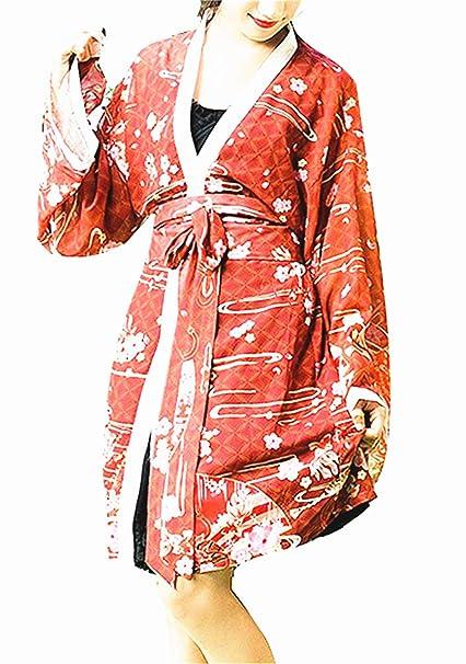 Japonés Estilo Kimono Bata de baño Kimono Dormido Túnica Cosplay ...