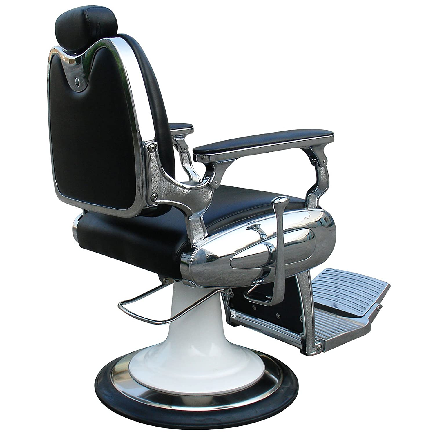 """Amazon """"Carter"""" Reclining Black Barber Chair With Heavy Duty"""