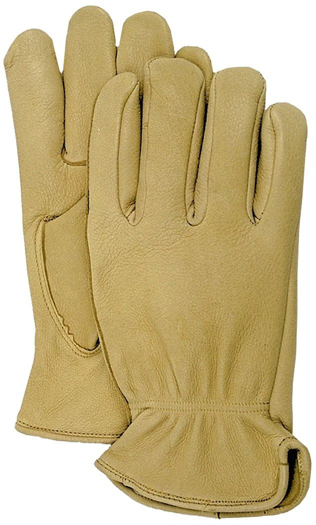 Boss 4085L Large Unlined Premium Grain Deerskin Driver Gloves