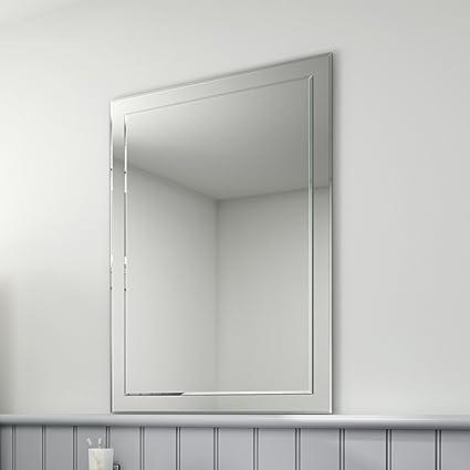 soak Specchio di Design da Bagno, Smussato, Rettangolare, 650 x 900 ...
