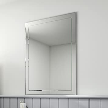 bathroom wall mirrors 24 x 36 mm rectangular bevelled designer mirror large framed lights uk