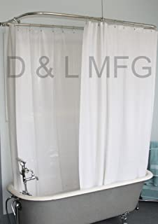 shower curtain for a clawfoot tub. Extra Wide Vinyl Shower Curtain For A Clawfoot Tub White With Magnets 180  X Amazon Com