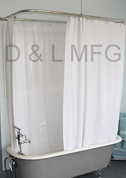 extra wide shower curtain for clawfoot tub. Extra Wide Shower Curtain For A Clawfoot Tub White With Magnets