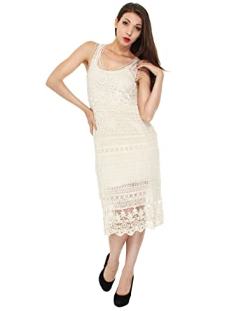 Simplicity Womens Sheer Hippie Style Dress In Crochet Knit Pattern