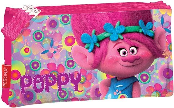 Portatodo Trolls Poppy Flowers Triple: Amazon.es: Juguetes y juegos