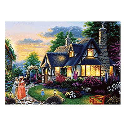 DIY Landscape Puzzle Adults Puzzles 500 Piece Large Game Interesting Toys Personalized Gift Paper: Toys & Games
