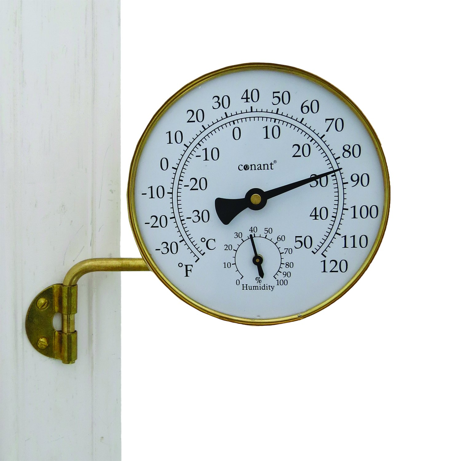 Conant TH6LFB Vermont Weather Station with Living Brass Finish