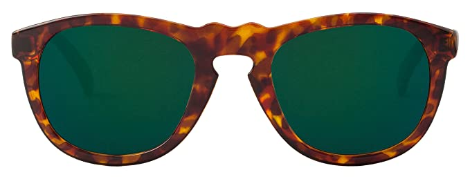 MR.BOHO Cheetah Tortoise Williamsburg with Dark Green Lenses, Lunettes de Soleil Mixte Adulte, Multicolor (Carey), Taille Unique