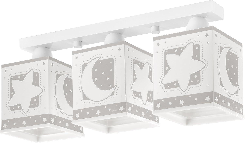 Dalber - Lampada Da Soffitto 63233E Luna Grigio [Classe di efficienza energetica A]