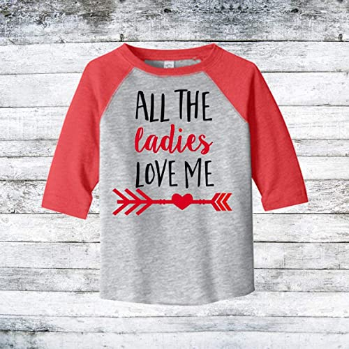00d6d13f Image Unavailable. Image not available for. Color: Toddler Raglan  Valentine's Day shirt for Boys
