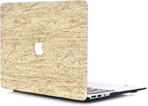 """MacBook Air 13 Case,L2W MacBook Air 13"""" Matte Smooth Plastic Hard Shell Protective Case Cover for Apple Laptop MacBook Air 13 Inch Model A1369/A1466 [Retro Wood Grain-8]"""