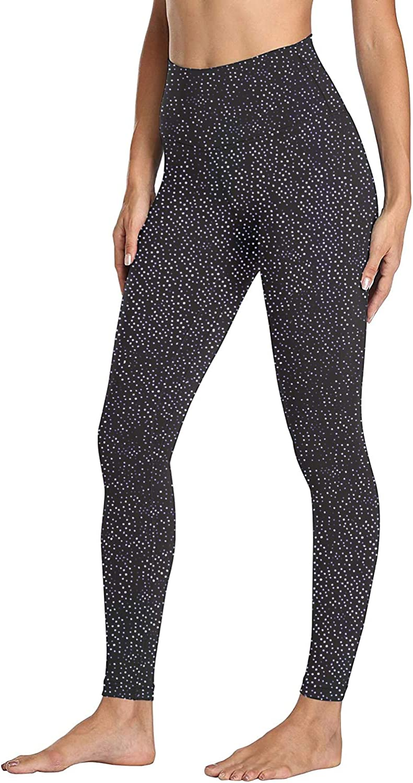 Cotton Black Leggings for Women Non See Through-High Waist Soft Tummy Control Workout Yoga Pants-Plus Size/&Warm