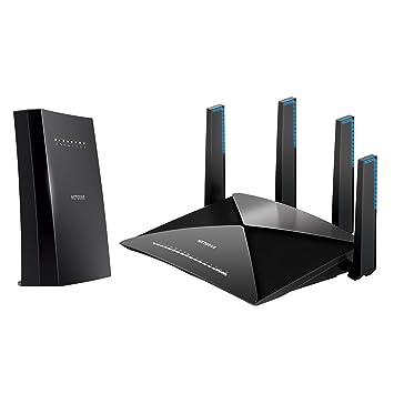 NETGEAR Nighthawk X6S Tri-Band WiFi Range Extender (EX8000) with NETGEAR  Nighthawk X10 – AD7200 802 11ac/ad Quad-Stream MU-MIMO WiFi Router (R9000)