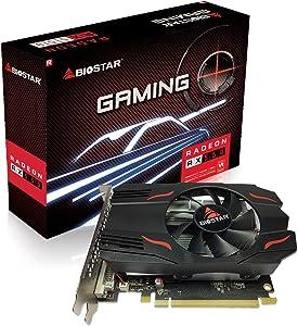 Biostar Radeon RX 550 4GB GDDR5 128-Bit DirectX 12 PCI Express 3.0 DVI-D Dual Link, HDMI, DisplayPort, Gaming Edition